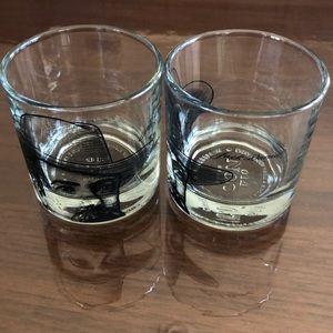 Jack Daniel's whiskey glass set of 2